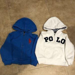 Polo Ralph Lauren hoodie and half zip pullover